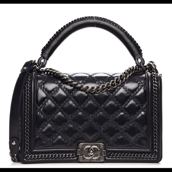 ed8ee2ae149c CHANEL Bags | Authentic New Medium Top Handle Boy Bag | Poshmark